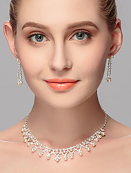 Women's Imitation Pearl / Rhinestone Jewelry Set Rhinestone