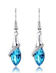 Austria Crystal Drop Earrings for Women Shining Earrings Fashion Jewelry Accessories Silver Plated