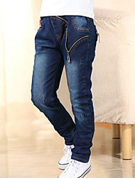 Boy's Cotton Super Fall /Spring Fashion Cartoon  Union Jack  Zipper Cowboy Pants