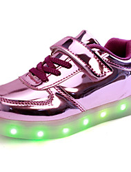 LED Light Up Shoes, Kid Boy Girl Upgraded Patent Leather Sport Shoes Flashing Sneakers USB Charge More Colors Available Purple / Silver / Gold