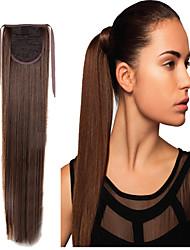 16 pouces brun pince droite ponytails prêle