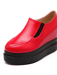 Zapatos de mujer - Plataforma - Tacones / Plataforma - Tacones - Casual - Semicuero - Negro / Rojo / Blanco