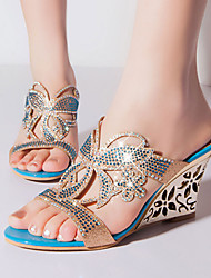 Women's Shoes Heel Wedges / Heels / Peep Toe / Slippers Sandals / Heels / Clogs & Mules Outdoor / Dress / CasualBlue /