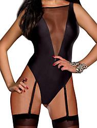 Ultra Sexy / Body Vêtement de nuit Femme Couleur Pleine Coton / Spandex Noir Aux femmes