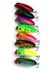 """8pcs pcs Druckknopf Zufällige Farben 10.4g g/3/8 Unze,60 mm/2-3/8"""" Zoll,Fester KunststoffSeefischerei / Fischen im Süßwasser /"""
