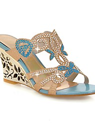 Women's Shoes Heel Wedges / Heels / Peep Toe / Slippers Sandals / Heels / Clogs & Mules Outdoor / Dress / CasualBlue /