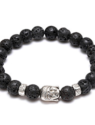 The New Men's And Women's Hands On Volcano Stone Beads Head Beads Bracelet Jewelry Christmas Gifts