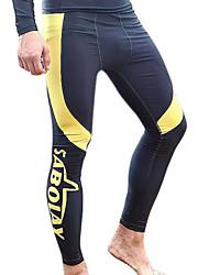SABOLAY® Homens Calças wetsuit Drysuits Mergulho Skins Resistente Raios Ultravioleta Compressão Elastano Tactel Fato de MergulhoRoupa de
