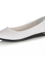 Women's Shoes Flat Heel Round Toe Flats Dress / Casual Black / Blue / Pink / Purple / White