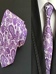 Gravata ( Roxo , Poliéster ) Estampado