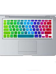 Rainbow Bright Design Silicone Keyboard Cover Skin for MacBook Air 11.6 US Layout