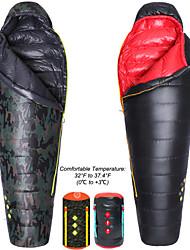 Schlafsack Mumienschlafsack Einzelbett(150 x 200 cm) +20 Degrees Celsius Enten Qualitätsdaune 400g 203cmWandern / Camping / Strand /