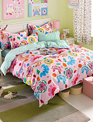 Blumen Baumwolle 3 Stück Bettbezug-Sets