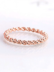 HUALUO®Twist Ring Female Tail Ring Rose Gold ring Promis rings for couples