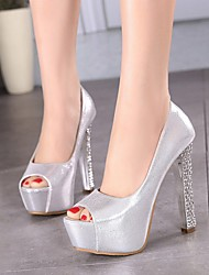 Women's Shoes Leatherette Chunky Heels / Peep Toe / Platform Sandals Office &Career/Party&Evening/Dress/Casual