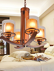 5 Traditional/Classic / Retro Mini Style Painting Metal Chandeliers Living Room / Bedroom / Dining Room