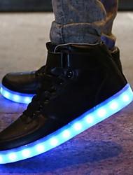 FemininoConforto Light Up Shoes-Rasteiro-Branco-Sintético-Ar-Livre Casual Para Esporte Festas & Noite