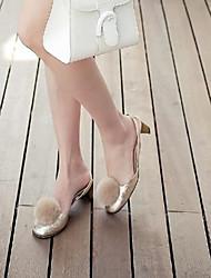 DamenOutddor / Kleid-Leder-Blockabsatz-Bommel-Gold