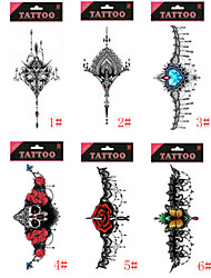 1/Pcs Waterproof Under Breast Tattoo High Quality Temporary Tattoo Sexy Women Tattoo Six Design Choosing