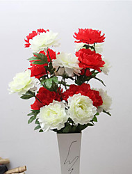 High Quality Peonies Flower Silk Flower Artificial Flowers for Home Decoration Flower Kit 1pc/set