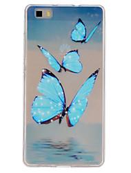 Pour Coque Huawei P9 P9 Lite P8 Lite Transparente Coque Coque Arrière Coque Papillon Flexible PUT pour HuaweiHuawei P9 Huawei P9 Lite