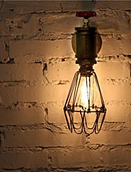 Vintage Industrial Water Pipe Wall Lamps Loft 40W Edison Light for Bar Restaurant Wall Fixtures Lighting- FJ-DB2S-045B0