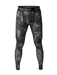 Men's Outdoor Indoor Camouflage Running Cycling Tight Compression Training Pants