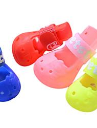Cães Sapatos e Botas Da Moda Vermelho / Rosa Primavera/Outono Plástico Clássico,Cão Sapatos