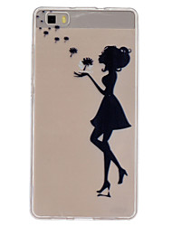 Dandelion girl Pattern TPU Phone Case for Huawei P8 Lite