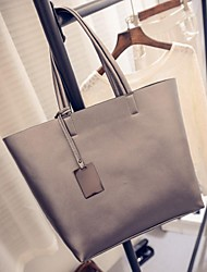 Women PU Casual / Outdoor Tote Gold / Gray / Black