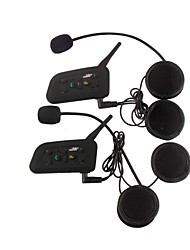 1200M Waterproof Motorcycle Helmet Interphone Full Duplex Bluetooth Intercom Headset V6