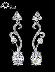 Earring AAA Cubic Zirconia / Imitation Diamond Geometric Drop Earrings Jewelry Women Wedding / Party / Daily / CasualSilver / Sterling