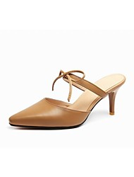 Women's Shoes Cowhide / Leather Stiletto Heel Heels / Slingback / Fashion Boots / Pointed Toe Heels Outdoor
