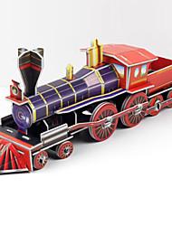 Puzzles 3D - Puzzle Bausteine DIY Spielzeug Schleppe Papier Rot / Lila Model & Building Toy