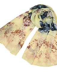 Women Chiffon Scarf Floral Print Colorful Long Shawl Pashmina Beach Scarf