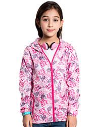Children Outdoor Sport Windbreaker Waterproof Sun & UV protection Lightweight Quick-dry Flower Printed Skin Jacket