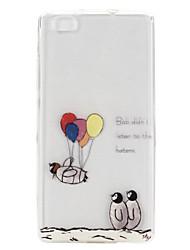 Pour Coque Huawei P8 Lite Transparente Coque Coque Arrière Coque Ballon Flexible PUT pour Huawei Huawei P8 Lite Huawei G7