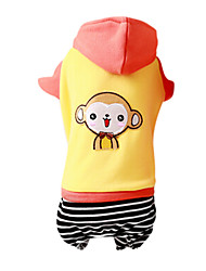 Dog Coat / Hoodie Red / Orange / Yellow Dog Clothes Winter Fashion