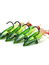 4pcs Lead Soft Baits  80mm 11g Fishing Lure Random Colors