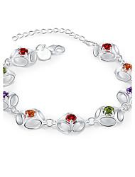Bracelet Chaînes & Bracelets Cristal / Zircon / Cuivre / Plaqué argent Soirée / Quotidien / Décontracté / Sports Bijoux Cadeau Argent,1pc