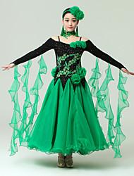 Бальные танцы Жен. Спандекс / Тюль S:125cm,M:125cm,L:130cm,XL:130cm,XXL:132cm