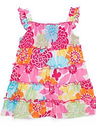 Robe Fille de Coton Eté Multicolore