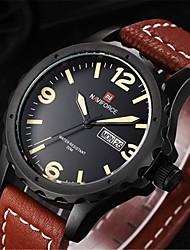 NAVIFORCE Men Sports Watches Men's Quartz Man Leather Strap Military Army Waterproof Gear WristWatch Male Relogio Wrist Watch Cool Watch Unique Watch