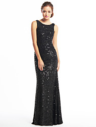 Mermaid / Trumpet Scoop Neck Floor Length Sequined Prom Formal Evening Dress with Sequins by TS Couture®