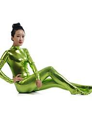 Costumes zentai Ninja Costume Zentai Costumes de Cosplay Vert Couleur Pleine Collant/Combinaison / Costume ZentaiElasthanne / Couleur