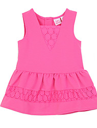 Girl's Pink Dress,Ruffle Cotton Summer