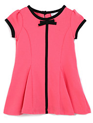 Girl's Pink Dress, Cotton Summer