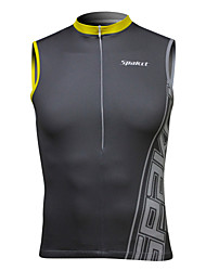 SPAKCT Cycling Tops / Vest / Tank / Jerseys Men's Bike Breathable / Quick Dry Sleeveless Stretchy Spandex / 100% Polyester Classic GrayM