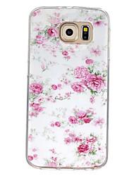 Para Samsung Galaxy Capinhas Estampada Capinha Capa Traseira Capinha Flor TPU Samsung S7 / S6 edge / S6