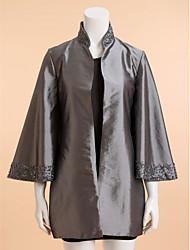 Wedding Taffeta Coats/Jackets Long Sleeve Wedding  Wraps